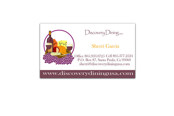 Discovery Dining Business Card Design - Santa Paula