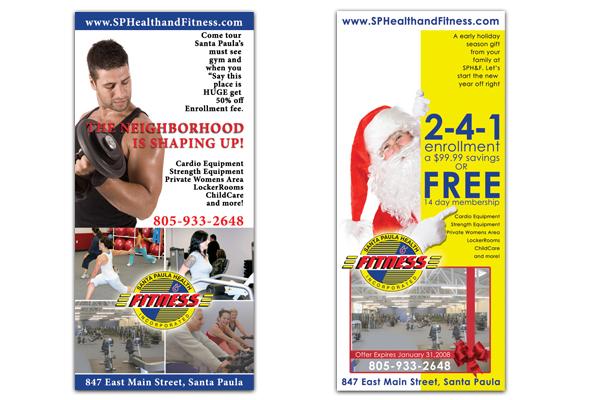 Santa paula health and fitness gym santa paula flyer design