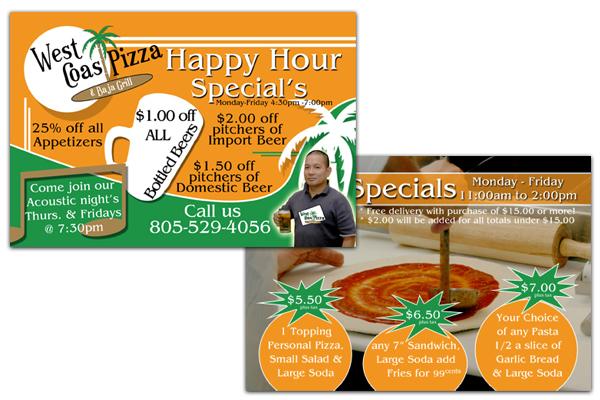 West Coast Pizza and Baja Grill - Moorpark Flyer Design